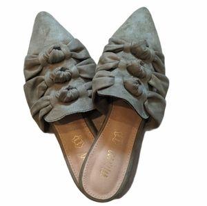 🟢NWT MI.IM Women's Army Green Mules-Size 10